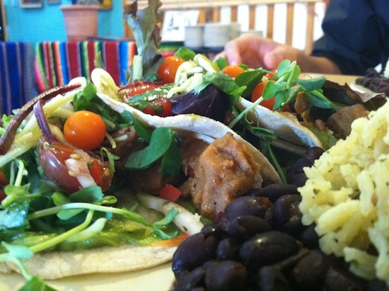 Soft vegan tacos - - Pepe's Bistro in Lincoln, NE