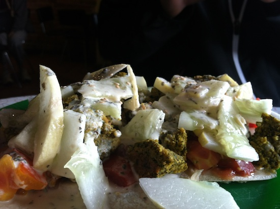 Un-Fried Falafel from Maggie's in Lincoln, NE
