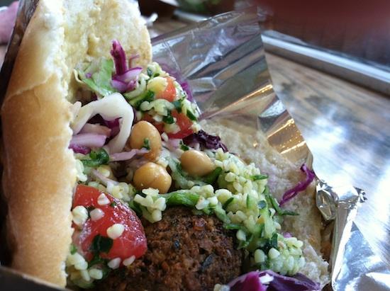 Vegan falafel from Amsterdam Falafel in Omaha, NE