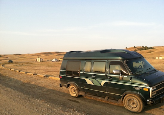 Gerty camps out - Badlands National Park