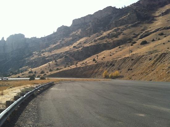 Route 16a through Wyoming