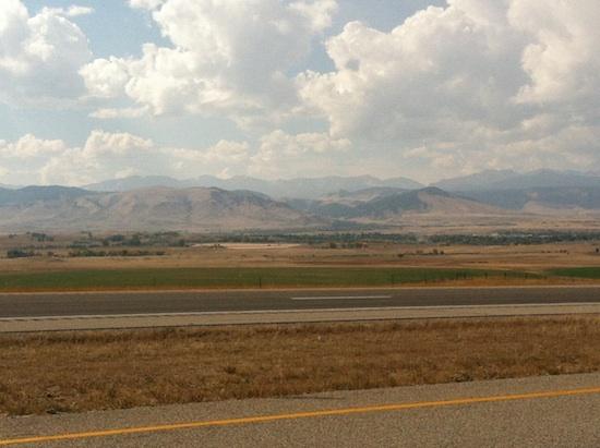 Driving through Wyoming