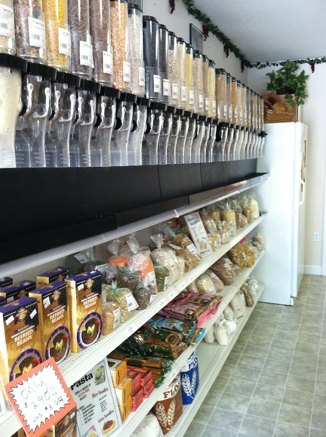 bulk foods section in health food store