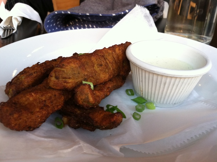 fried pickles vegan
