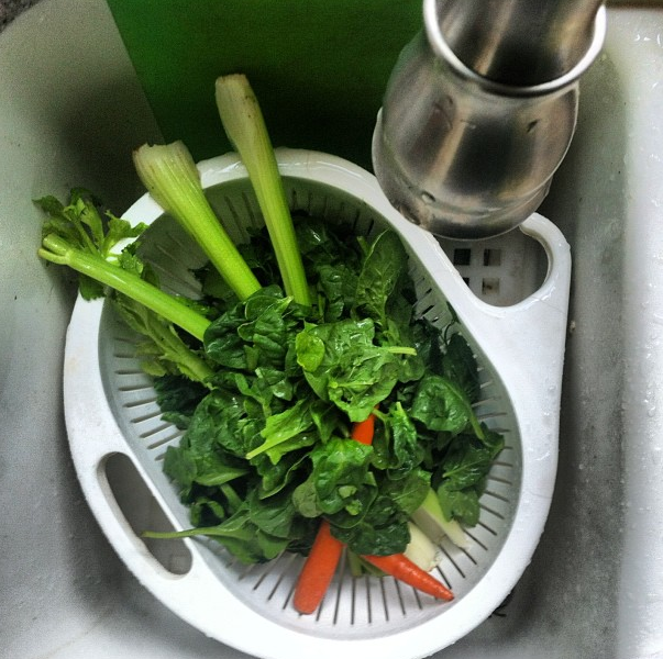 washingveggies