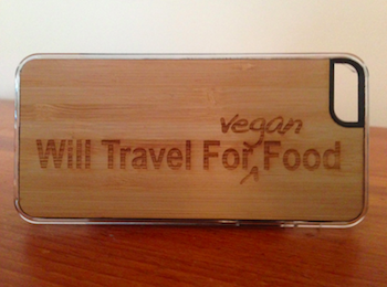 will travel for vegan food iphone case