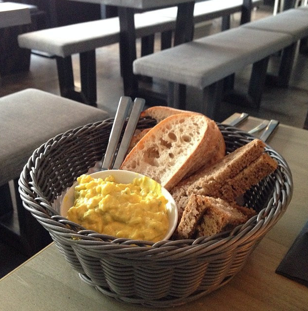 Bread Basket with faux egg salad