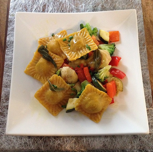 Wondergood walnut stuffed ravioli