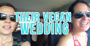 their vegan wedding