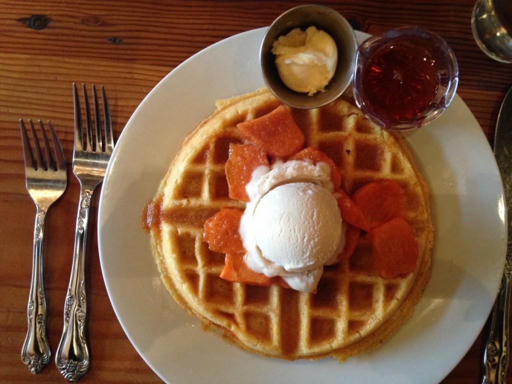 Persimmon waffle from Portobello
