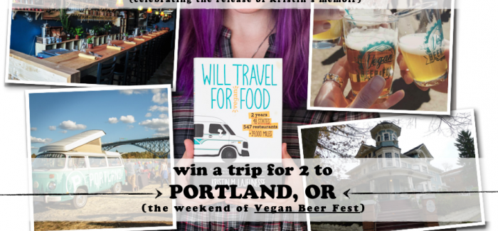 *WIN* A TRIP FOR 2 TO PORTLAND, OREGON (weekend of Vegan Beer Fest)