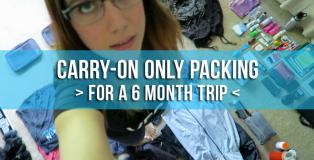 vegan travel packing
